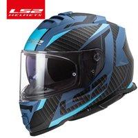 Capacete LS2 Fırtına Motosiklet Kask LS2 FF800 Tam Yüz Kaskları Sissiz Sistemi ile Casco Moto Q0630