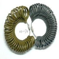 Пластиковый кольцевой датчик пальцев Sizer измерения размеров пальцев евро Размеры 43-74, пластиковый металлический инструмент для ювелирных изделий 29 W2
