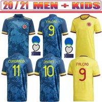 Erkekler ve Çocuklar Kiti Kolombiya Eve Futbol Forması 2021 James Futbol Gömlek 20 21 Falcao Camiseta de Futbol Maillot