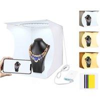 PULUZ Folding Portable Ring Light Photo Lighting Studio Shooting Tent Box Kit with 6 Colors Backdrops