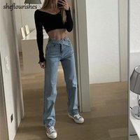 Vintage Mamãe Calças de Jeans High Cintura Denim Calças Preto Boyfriend Jeans Mulheres caem 2020 Baggy Casual Calças Azul Senhoras