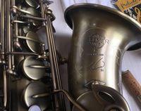 Высокое качество Super Action R54 Саксофон Античный Медь Alto Полный цветок EB Tune Model E Flat Sax с Reeds Case Мундштук Professional