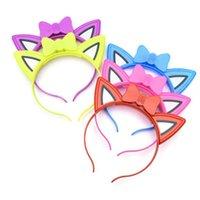 Led Headband Light Cat Ears Glow Woman Girl Hairband Headwear Wedding Party Flashing Hair Supplies Decoration
