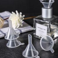 Mini plástico transparente pequeno funil ferramentas perfume óleo essencial garrafa vazia líquido enchimento funnels cozinha barra de jantar ferramenta