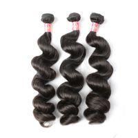 Bella Hair® Peruvian Loose Wave Hair Weaves 3 buntar Obearbetade Double Weft Naturliga ColorHair Extensions