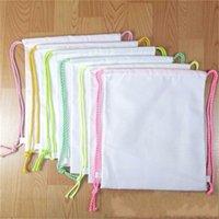 Sublimation Blank Blank Bag Diame Plain White White Termal Imballaggio a spalla Borse per bambini Borsa per bambini Studenti Book Packs Crossbody Shop Totes 654 Y2