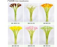 Flor artificial de Natal PU Calla Lily Real Touch Flor Flores Artificiais para Flor De Festa de Decoração De Casamento Para Presente / Home DSF0619