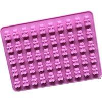 Take Tools Практический милый липкий медведь 50 полость силиконовый поднос Сделайте шоколадные конфеты ледяные желе плесень Ahe5688