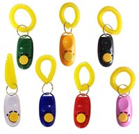 Pet Click Trainer Dog Training Clicker And Whistle Combination Repeller Aid Key Ring Wrist Strap DH3686