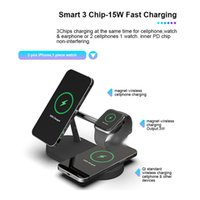 5 In 1 Magnetic Wireless charger Stand 15W Fast Charging Dock Station For Watch Chargers Stand 2 colors to choose