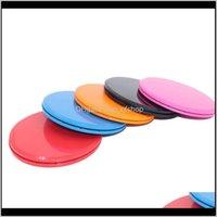 Équipe intégré 1 paire de disques de glissement de curseur de coulisses de forme physique Plaque de coulissement de disque pour yoga Gym Abdominal Core entraînement Equipmen Srsu7
