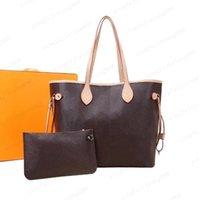 2 قطعة / المجموعة النساء مصمم أكياس حقيبة يد حقائب اليد النسائية حقيبة crossbody حقائب اليد حقيقية المحافظ سيدة حمل + محفظة