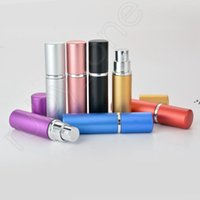 5ml Portable Mini Aluminum Refillable Perfume Bottle With Spray Empty Makeup Containers With Atomizer For Traveler Sea Shipping HHD10863