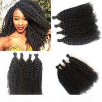 Kinky Curly Hair Bulk For Braiding Mongolian Human Hair Natural Color Top Quality Bulk Hair FDSHINE