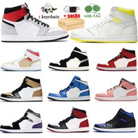 With Box Jumpman1 1s Top Quality Mens Basketball Shoes Trainers High Dio Mid Black Chile Red White Equality Prototype Grey Camo Shadow Bred Sports Sneakers