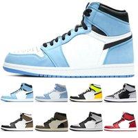 aj retro 1 zapatillas de baloncesto 1s hombres mujeres 1 Zapatillas de deporte para hombre Cactus Jack Game Royal Bloodline fashion Sports Sneakers Size 36-46