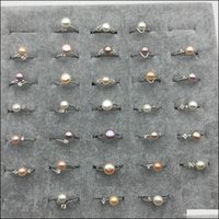 Solitaire Rings Jewelrywholesale Jewelry Freshwater Ctured Mix Colors Pearl Beads Adjustable Ring 8-9Mm Drop Delivery 2021 Y9Ho8