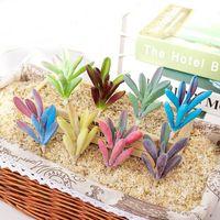 Decorative Flowers & Wreaths Home Garden Decoration Plantas Artificiales DIY Flower Arrangement Artificial Succulents Bonsai Wedding Party C
