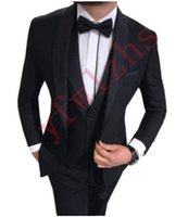 Handsome Groomsmen One Button Groom Tuxedos Shawl Lapel Men Suits Wedding Prom Dinner Man Blazer (Jacket+Pants+Tie+Vest) w605