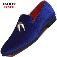 Chaussures de robe Men's Plus Taille 37-48 Slip sur Hommes Mocassins Printemps Casual Casual Caskipe En Cuir Suisse En Cuir Mens Designer pour orteil pointu