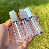 Depolama Şişeleri Kavanoz 5 ml Kozmetik Ambalaj Altıgen Gümüş Temizle Boş Lipgloss Tüp Ruj Konteynerleri Seyahat Doldurulabilir