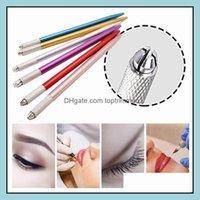Hines Permanent Supply Tattoos Body Art Health & Beauty100Pcs Semi-Permanent 3D Embroidery Makeup Manual Tool Tattoo Eyebrow Microblade Pen