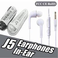 Quality sound J5 EG900 Earphone 3.5mm In-Ear Earphones Microphone Headphones For Huawei Xiaomi Samsung S6 S7 S8 S9