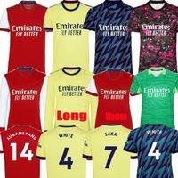 Arsenal Maglia da calcio Arsen Gunners 21 22 versione giocatore fan 2021 2022 PEPE SAKA THOMAS WILLIAN NICOLAS CEBALLOS 2020 da uomo + kit per bambini Uniformi razza umana quarto