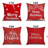 20 색 크리스마스 린넨 베개 케이스 산타 클로스 눈사람 인쇄 베개 케이스 할로윈 베개 커버 홈 장식 용품 DHE9917
