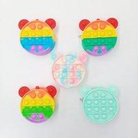 Sensory Toys Push Bubble Small PurseZero Purse Makeup Beauty Package Puzzle Decompression PushBubble Press Silica Gel Fidget Toy