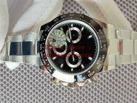 CAIXA 2021 Watches de luxo dos homens preto e branco JFF Mens automático Cronógrafo ETA 7750 homens relógio de aço inoxidável de cerâmica