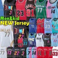 Chicago Bulls Dallas Mavericks Michael 77 Doncic Jersey Jordan Wade MJ Luka 23 9 Dwyane Porzingis Dwayne Dennis 91 Rodman Scottie 33 Pippen Jimmy Tyler 14 Herro Butler Basketball