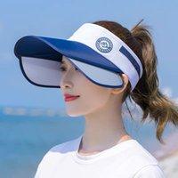 Sonnenhut Weibliche Sommersonnenblock UV große Outdoor-Reise entlang des leeren Huts bedeckt Gesichtsmode Sun Baseballmütze