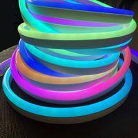 Полосы полноцветные неоновые легкие ленты ленты гибкий светодиодный знак ночи DC 12V 24V полоса 9x21 мм 12x25 мм пиксель смарт