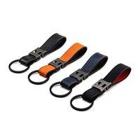럭셔리 디자이너 Herms 열쇠 고리 4 색 편지 자동차 반지 키 체인 핸드백 펜던트 키 체인 선물