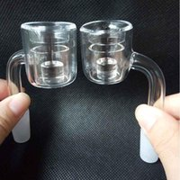 double tube XXL Thermal Core Reactor Quartz Banger Nail Smoking Pipe Tool 10mm 14mm 18mm For Hookahs Glass Bongs oil rigs