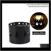 Decoraciones de Navidad Tealight Colgando Linterna Jaula de pájaros Vintage Forjado XMS Hollow Candle Holder Candelabro Creativo WMTRGB ZZ0O0 OTIYS