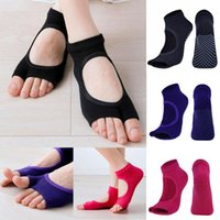 Women Yoga Gym 5- Toe Non Slip Massage Barre Grip Pilates Soc...