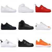 Chaussures de course Hommes Femmes Plate-forme Femmes Sneakers Forces Dunk 1 Airforce Fashion 1S Blanc Black Haute Qualité Haute Quality Homme Entraîneur Jogging Marcher Taille 36-45