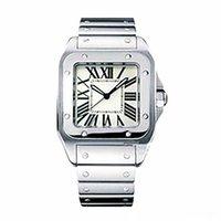 Orologi da uomo quadrante quadrante Ginevra Ginevra Genuine in acciaio inox orologi da quarzo moda uomo orologi da uomo