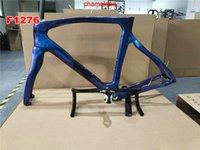 F12 Frame 1K Carbon Road Frames Carbon Bicycle Frameset with Frame Fork Seatpost Clamp Headset + Handlebar Black