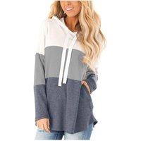 Women's T-Shirt Solid Splicing Oversized Hoodie Sweatshirts Women Long Sleeve Pocket Sweatshirt Pullover Tops Streetwear Hoody Sudaderas