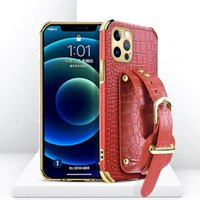 Genuine Leather Cell Phone Cases With Wrist Strap For Most Mobile phones 13 Pro Max 12 Mini 11 XS XR 6 6s 7 8 Plus Fashion Protective Cover Wholesale Retailor Package