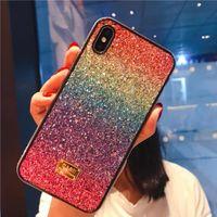 Gradient Glitter Premium Rhinestone Cases Luxury Designer Women Defender Phone For iPhone 12 11 Pro Xr Xs Max 6 7 8 Plus