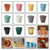 Pequeno mini terracota potenciômetro cerâmica cerâmica plantador cacto flor vasos suculentos vasos berçários grandes vasos de cerâmica cerâmica