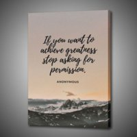 1P Stop Asking Quote Wall Picture Print on Canvas Art Creative Poster Home Decoration Calligraphy Painting