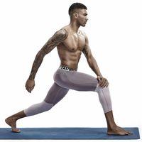Gym Abbigliamento Uomo nove Pantaloni Yoga Slim Long Johns Tight Fitness Fitness Due pezzi Sexy Mens Under Bottoms Pigiama