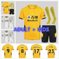 Kit para niños adultos 21/22 Adama Vitinha Home Soccer Jersey 2021 2022 Lobos alejados Neto Neves Raul Maillots de Camisetas Podencia Diogo J Uniforme de fútbol