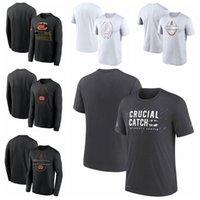 "Cincinnati""Bengals""Men Women Youth 2021 Crucial Catch Performance Football T-Shirt Charcoal"