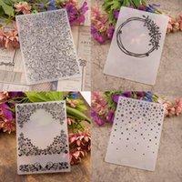 Craft Tools 1pcs DIY Transparent Stamps Paper Cards Template Making Card Scrapbook Stencil Embossing Folder Wedding Po Decor